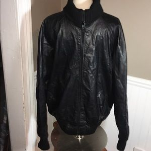 Nino Cerruti Sport Leather Bomber Jacket